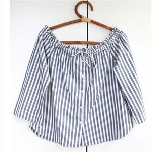 Madewell Small Striped Off the Shoulder Top